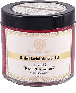 Khadi Natural Rose And Aloevera Face Massage Gel, 100G