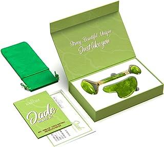 Premium Rodillo de Piedra De Jade Autentico Certificado Para