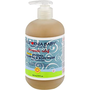 California Baby Eczema Shampoo and Body Wash (Therapeutic Relief) Skin Protectant for Hair, Face, Body | Organic Oatmeal and Calendula | Dry, Sensitive Skin | 19 oz.