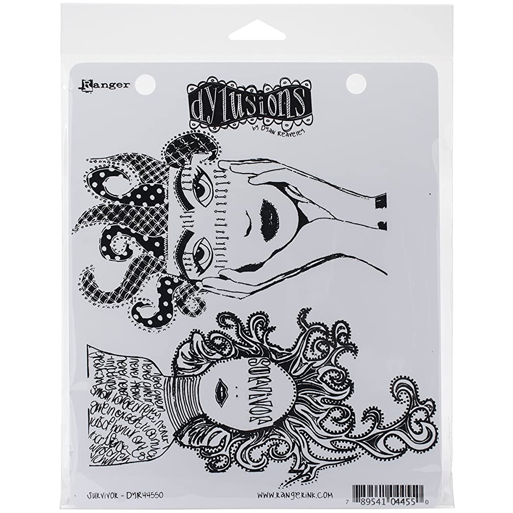 Ranger Dyan Reaveley's Dylusions Cling Stamp Collections, 8.5-Inch by 7-Inch, Survivor