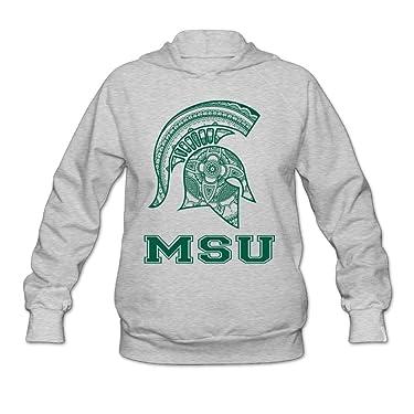 Boxer98 Women's Hoodies Michigan State MSU University Ash