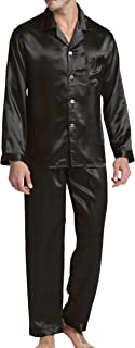 Men's Sleepwear Satin Pyjama Set Nightwear Loungewear