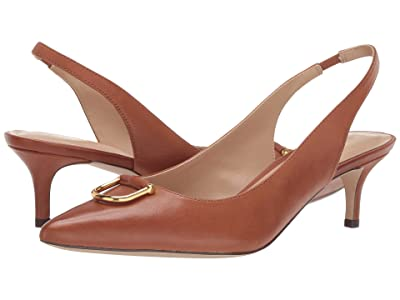 LAUREN Ralph Lauren Amsberg (Deep Saddle Tan Super Soft Leather) Women