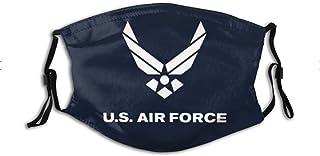 United States Marine Corps Face Mask With Filter Pocket,Washable Face Bandanas Balaclava Reusable Fabric Protection