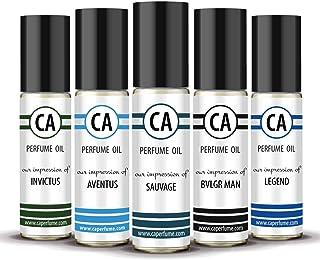 CA Perfume 2020 Most Attractive Men Set Impression of (Aventus + Sauvage + Bvl. Man + Invictus + Legend) Fragrance Body Oi...