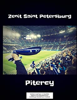 Zenit Saint Petersburg Pitercy Notebook: Graph Paper: 4x4 Quad Rule, Student Exercise Book Math Science Grid 200 pages (Football Soccer Notebook)