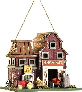 Gifts & Decor Country Farmstead Rustic Barnyard Wooden Bird House