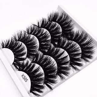 NEW 5 Pairs 3D Mink Hair False Eyelashes Criss-cross Wispy Cross Fluffy 22mm-25mm Lashes Extension Handmade Eye Makeup Tools (K505)