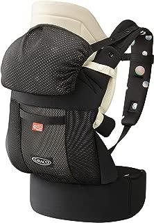 GRACO (グレコ) だっこひも 腰ベルト付き ルーポップゼロCTS シャボンディドットBK Carry Travel System + おくるみインサート + やわらかメッシュ搭載 67553