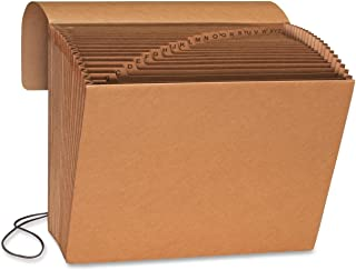 Smead Expanding File with Flap and Cord Closure, 21 Pockets, Alphabetic (A-Z), Letter Size, Kraft (70121)