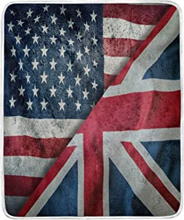 Union Jack Drapeau Throw Blanket Luxe Corail Couverture Polaire Grand Drapeau Britannique Lit