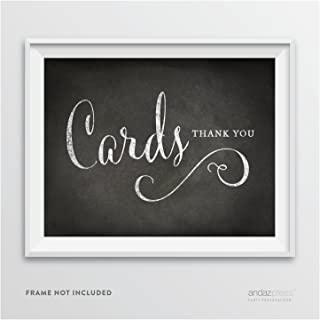 Andaz Press Wedding Party Signs, Vintage Chalkboard Print, 8.5-inch x 11-inch, Cards Thank You, 1-Pack, Unframed