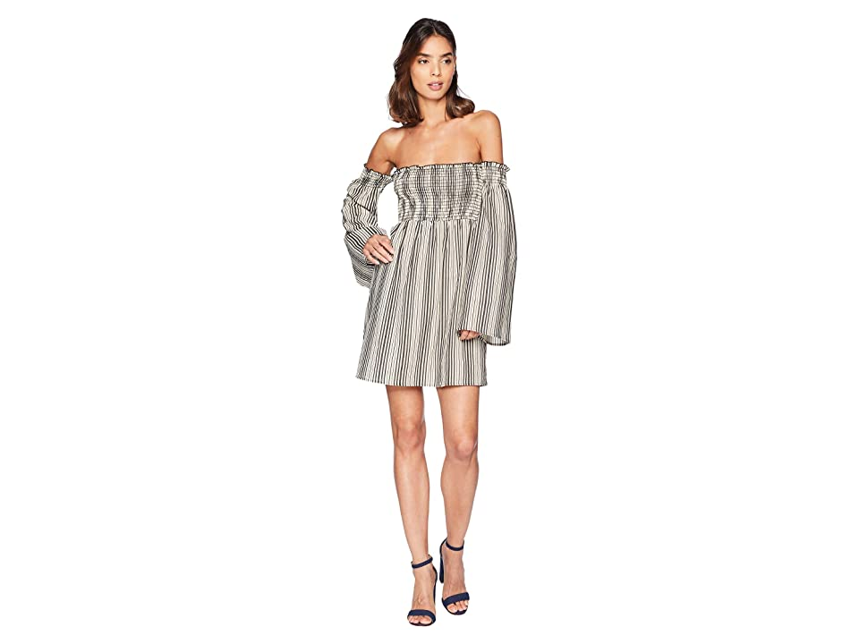 Show Me Your Mumu Sandra Smocked Dress (Highway Stripe Flux) Women