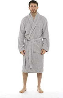 a26ee4305d690 Men Towelling Robe 100% Cotton Terry Towel Bathrobe Dressing Gown Bath  Perfect for Gym Shower