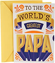 Hallmark Father's Day Card for Grandpa from Kids (World's Greatest Papa with Interactive Word Wheel)