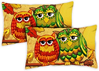 Toland Home Garden 771274 Fall Owls 12 x 19 Inch Indoor/Outdoor, Pillow Case (2-Pack)