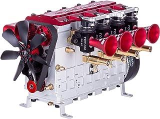 Morton3654Mam TOYAN FS-L400 Moteur à monter soi-même 14 cc Inline 4 cylindres 4 temps Nitro refroidi à l'eau Kit de modéli...