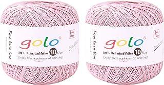 Crochet Thread Yarn Size 10 for Hand Knitting Crochet (2-Pack) Crochet Yarn for Knitting (Taro Color)