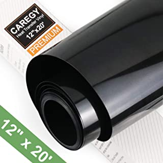 CAREGY Heat Transfer Vinyl HTV for T-Shirts 12 Inches by 20 Feet Roll (Black)