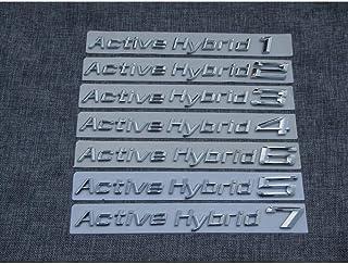 WHJIXC para BMW Active Hybrid 1 2 3 4 5 6 7 8, Cromo ABS Plástico Maletero del Coche Caras traseras Letras Insignia Insignias Emblemas Emblemas