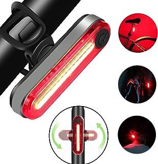 Luces De Bicicleta, Luz Bicicleta Recargable USB, Linterna Bicicleta Impermeable con 4 Modos, Bicicleta para Carretera y Montaña