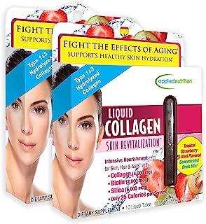 Applied Nutrition Liquid Collagen Skin Revitalization, 10 Count 3.35 Fl Oz (2 Pack)