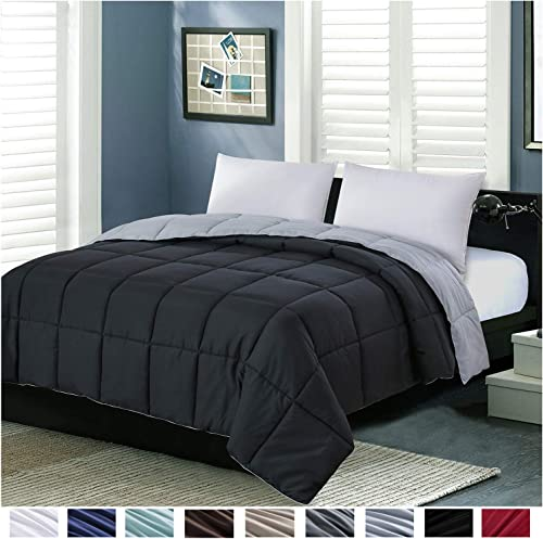 Homelike Moment Lightweight Comforter King All Season Down Alternative Comforter Summer Duvet Insert Black Quilted Be...