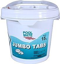 Pool Mate 1-1415 Jumbo 3-Inch Swimming Pool Chlorine Tablets, 15-Pounds
