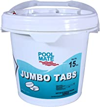 Pool Mate 1-1415 Jumbo 3-Inch Chlorine Tablets, 15-Pound