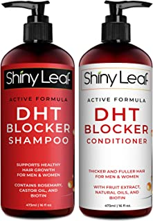 DHT Blocker Shampoo and Conditioner for Hair Loss With Biotin For Men, Women, Anti-Hair Loss Treatment, Rosemary and Green...