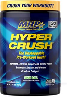 Mhp Bcaa Strong Pre, Intra, Post Workout Drink, Natural Fermented Amino Acids, Leucine, Muscle Recovery, Sour Ball, 30 Servings