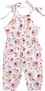 Toddler Baby Girl Clothes Floral Sling Sleeveless Romper Printed Sunsuit One-Piece Summer Jumpsuit Outfits