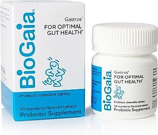 BioGaia Gastrus Chewable Tablets, Adult Probiotic Supplement for Stomach Discomfort, Constipation, Gas, Bloating, Regulari...