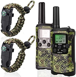 Kids Walkie Talkies Boy Toys - Gifts for Children Over 4 Years Old 22 Channel 2 Way Radio 3 Miles Long Range Fit Outdoor Adventure Game Camp Hunt Trip Girls Boys Birthday Gifts Toys Aged 5-13