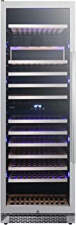 Avallon AWC242TDZLH 24 Inch Wide 141 Bottle Capacity Free Standing Dual Zone Wine Cooler with Interior Lighting