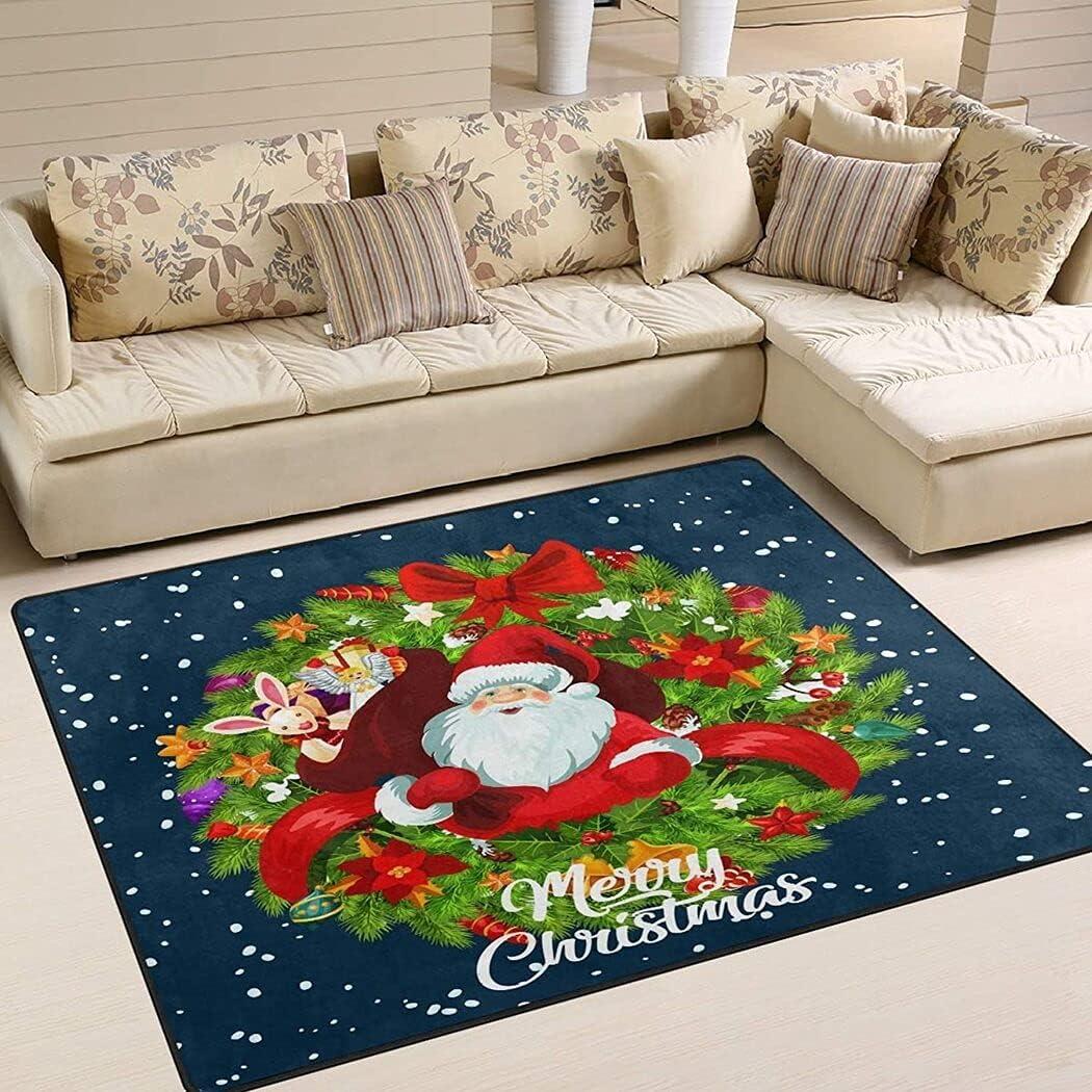 Merry Christmas Santa Gifts Bag Colorado Springs Mall Xmas Tree Chri Ribbon 5 ☆ very popular Wreath Red