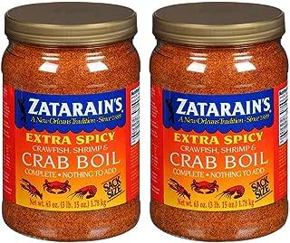 Zatarain's Extra Spicy Crawfish, Shrimp & Crab Boil Seasoning, 63 oz (2 pack)