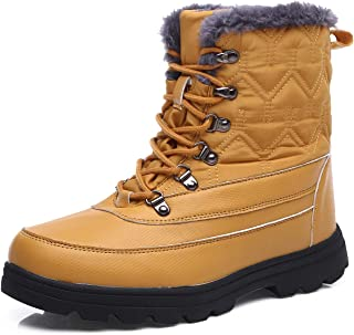 Men's Winter Snow Boots Anti-Slip Fur Lined Warm Shoes Casual Sneakers