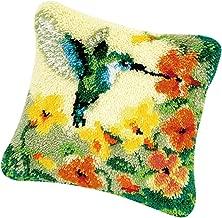 Blumen Muster Kn/üpfkissen Kissen zum Selber Kn/üpfen Kissen Kn/üpfpackung Sofakissen P Prettyia DIY Kreuzstichkissen Blume 3