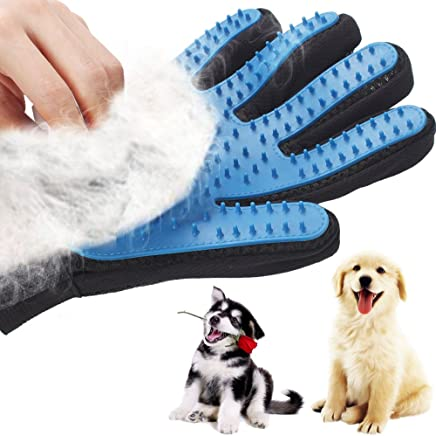 Moovieshop Pet Deshedding Glove - Gentle De-shedding Brush Glove - Efficient Bathing Grooming Massaging