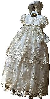 mit Blumen f/ür 0-24 Monate DaMohony: Kleid f/ür Babys und Kleinkinder f/ür besondere Anl/ässe wie Hochzeit Langarm Baumwolle und Netzstoff