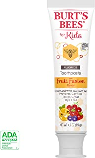 Burt's Bees Kids Toothpaste, Natural Flavor with Fluoride, Fruit Fusion, 4.2 Ounce