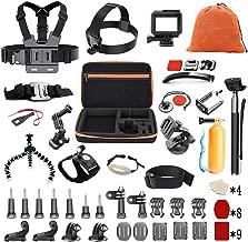 Pieviev Kit de Accesorios para Gopro HERO5 Negro (60 + Items, Incluido HERO5 Black Frame) (58-IN-1)