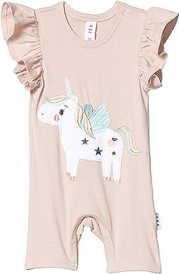 Unicorn Short Frill Romper (Infant)