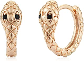 VACRONA Evil Eye Huggie Hoop Earrings for Women 18k Gold Plated Heart Pendant Huggie Earrings Tiny Huggy Hoop Earrings Cut...