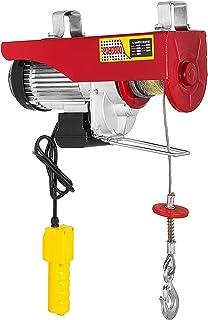 Cueffer Polipasto Eléctrico 2204LBS 1000KG Elevador eléctrico 220V Montacargas Eléctrico para Garage y Levantar Herramientos Pesados Cabrestante Electrico (1000KG)