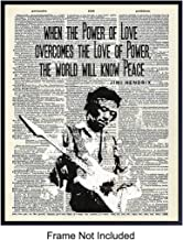 Graffiti Jimi Hendrix Quote, Upcycled Dictionary Art Poster Print - Inspirational Street Art, Urban Home or Wall Decor - Gift for 60's Music, Woodstock Fans, Guitarists, Musicians - 8x10 Photo Picture