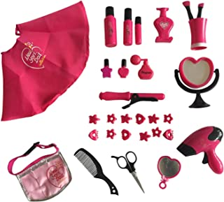 The New York Doll Collection 30 PC Doll Hair Care set - Includes Doll Cape and Waist Belt - Deluxe Hair Styling set for 18-inch Dolls