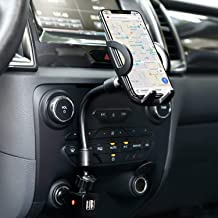 Amoner Car Mount, Upgraded 3-in-1 Cigarette Lighter Car Phone Holder Cradle with Dual USB 2.1A Charge for iPhone 11 Pro Max XS Max X 8 7 Galaxy S10 S9 S8 and Smartphones up to 6.5 inches