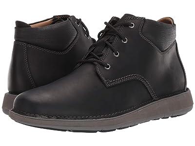 Clarks Un Larvik Top (Black Oily Leather) Men